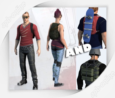 Верменно в армасе: Punk Clothing Pack / Скейт и Рация